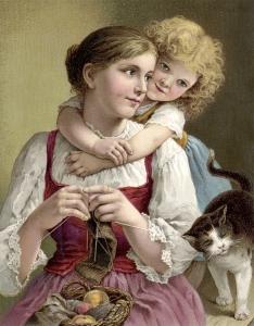 Victorian knitter